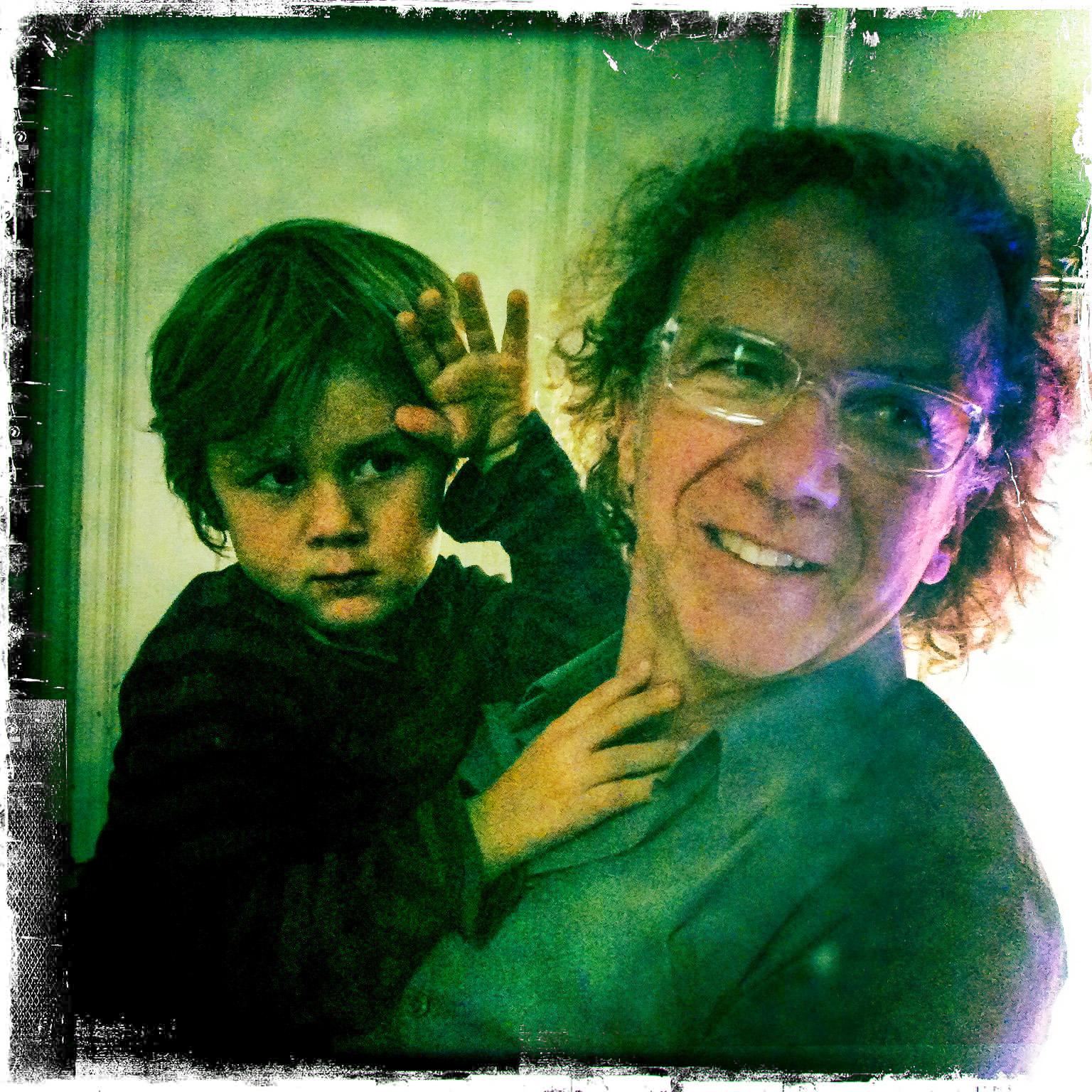 Portrait Vater und Sohn im Hipstamatic-Style