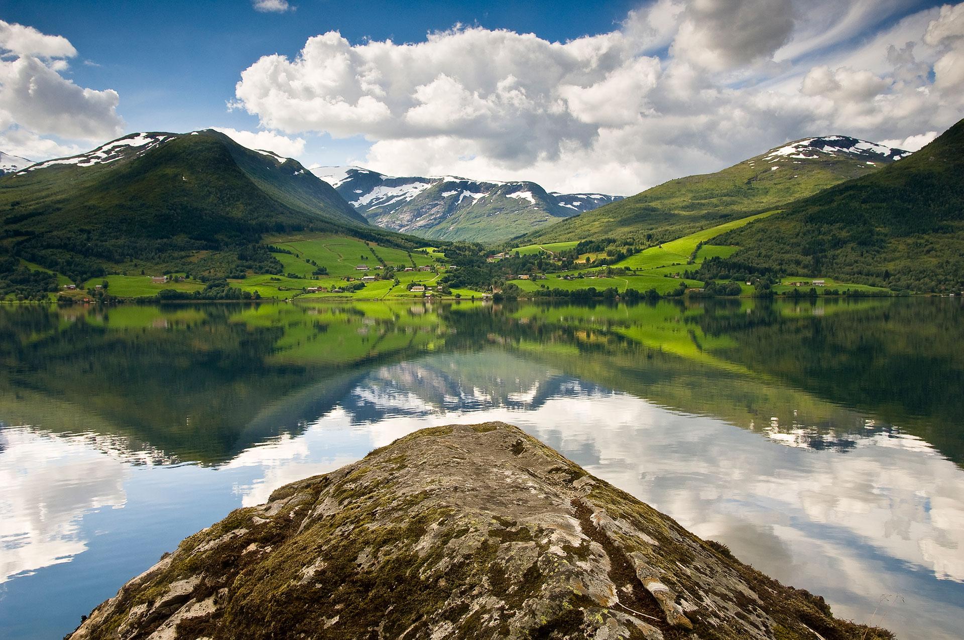 In Norwegen in der Provinz Hordaland fühlt man sich wie in der Schweiz