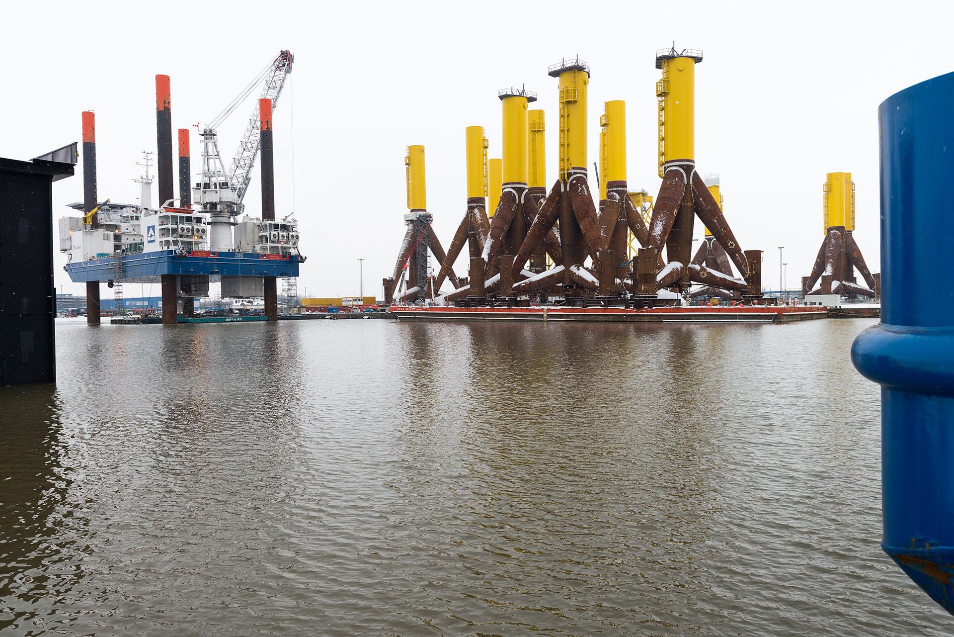 Stahlfundamente Offshore Windpark