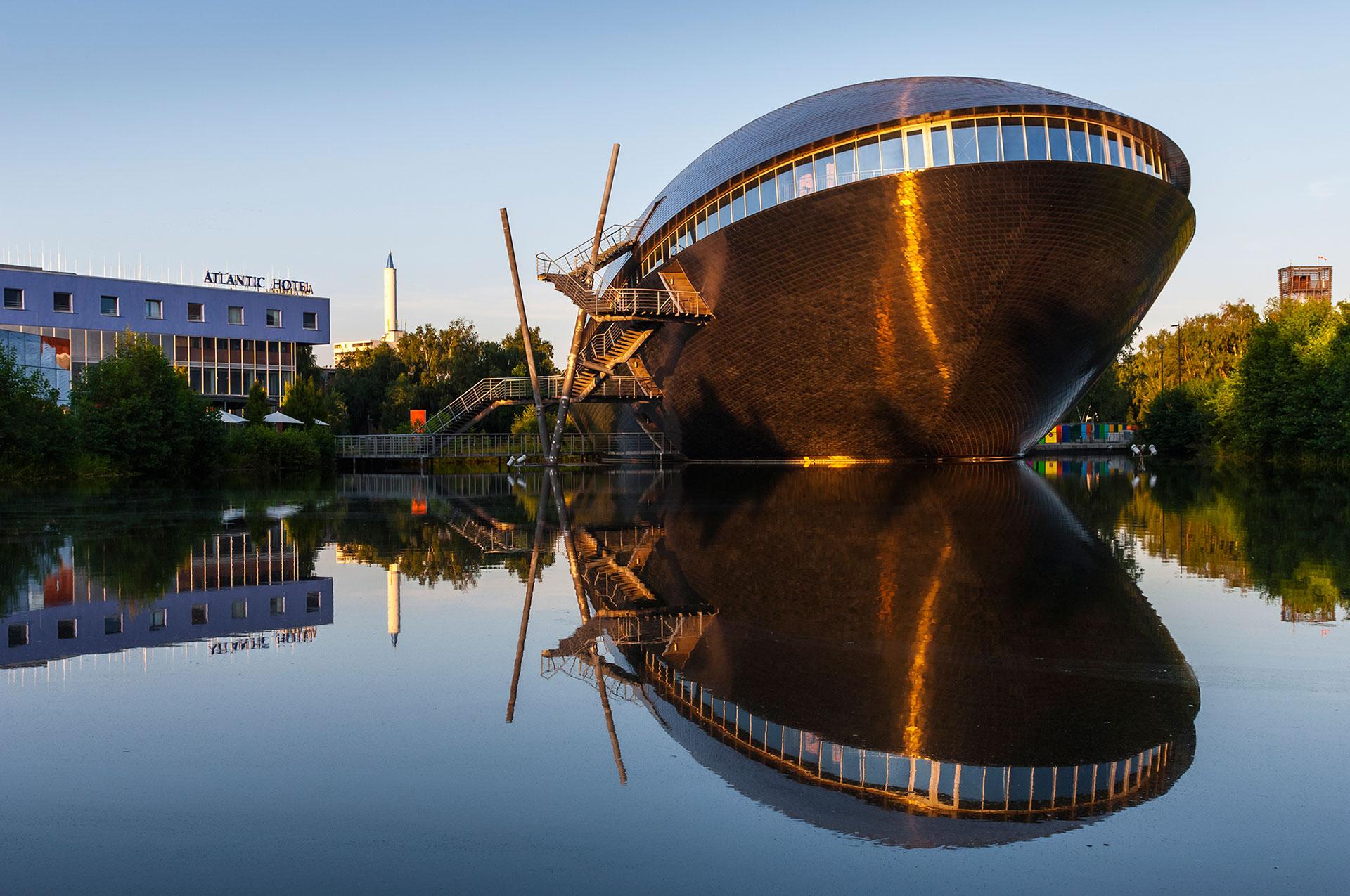 Das Science-Center Universum befindet sich im Technologiepark an der Universität von Bremen