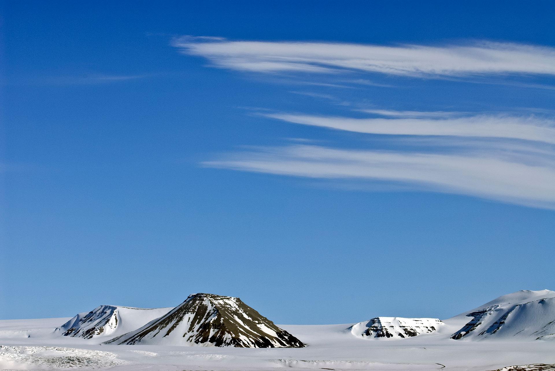 Norwegen ein sonniger Tag auf Spitzbergen