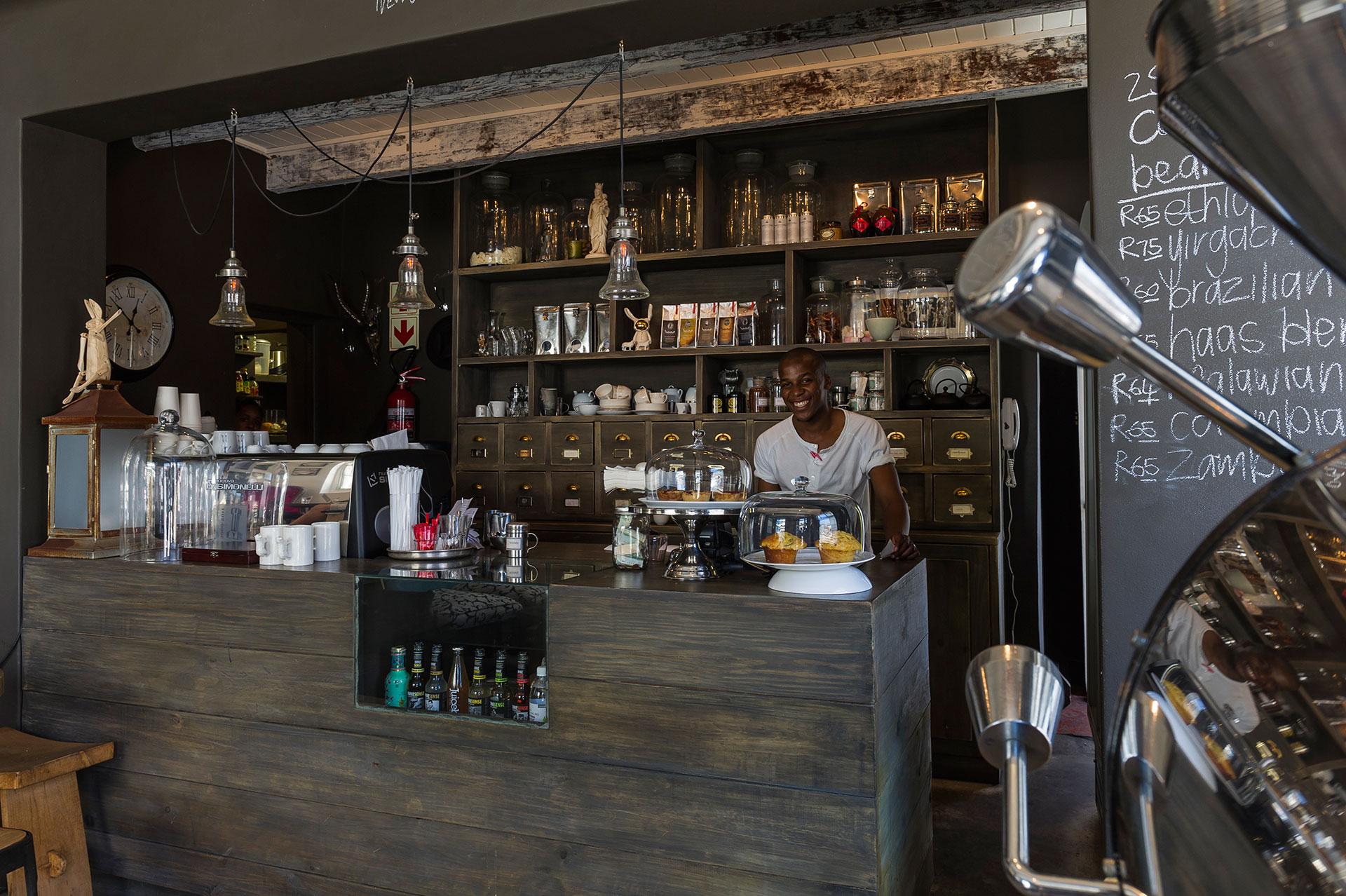 Afrika Südafrika Kapstadt Stadtteil Bo-Kaap Kapmalaien Malaienviertel Malay Quarter modernes Kaffee Café Café Haus