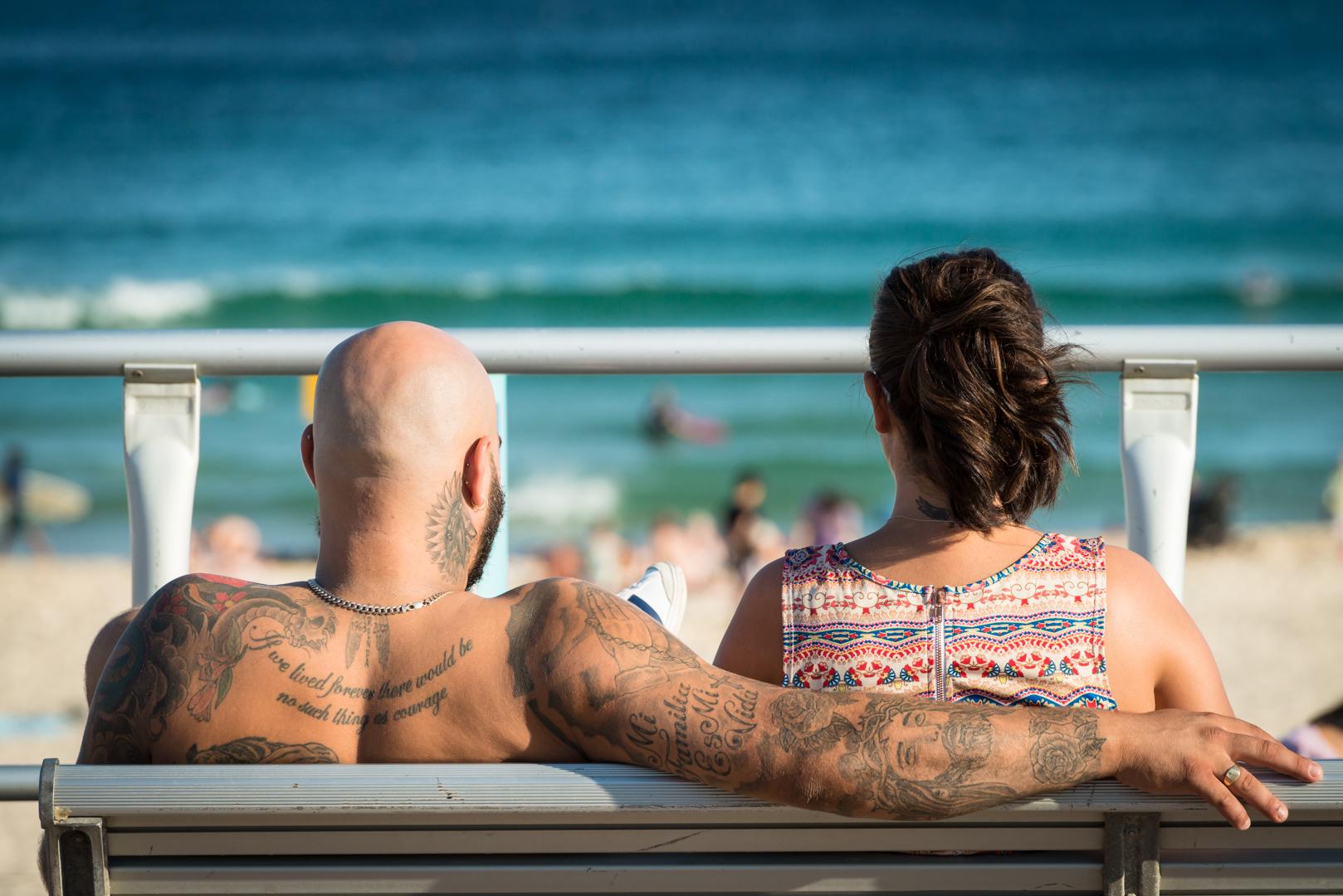 In dem berühmten Badeort Bondi Beach bei Sydney präsentiert man gerne seinen Körper und seine Tattoo´s