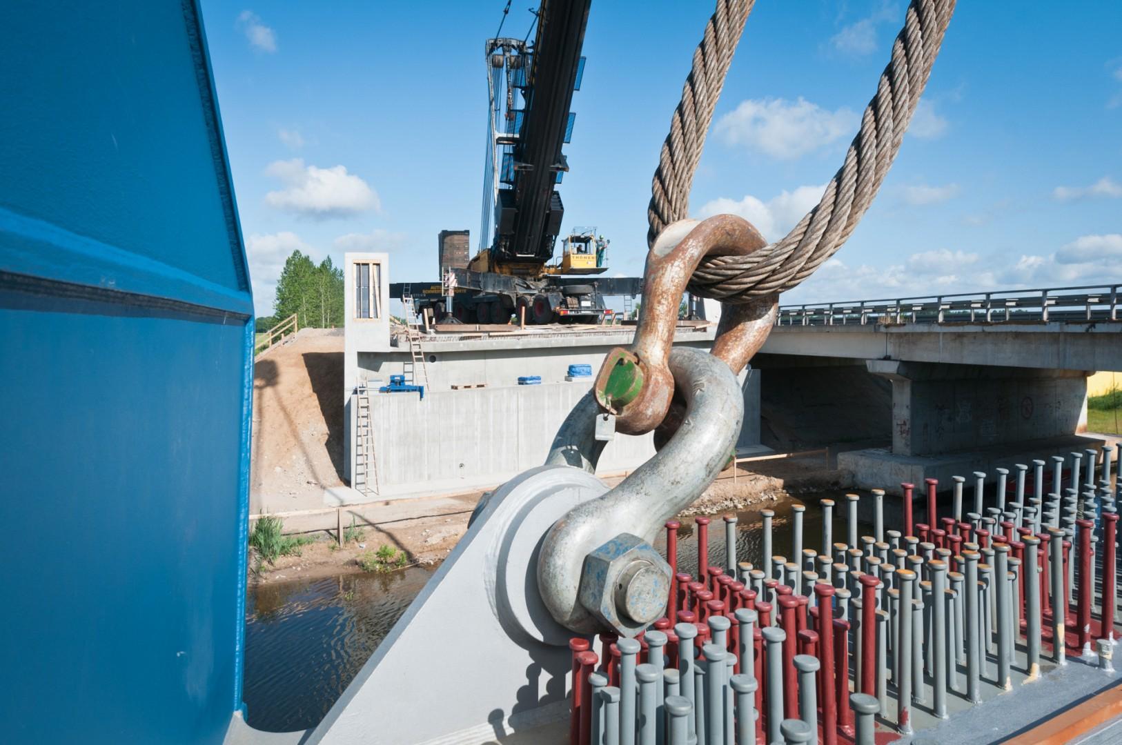 Construction site motorway bridge Mecklenburg Neustadt-Glewe Müritz-Elde-Canal