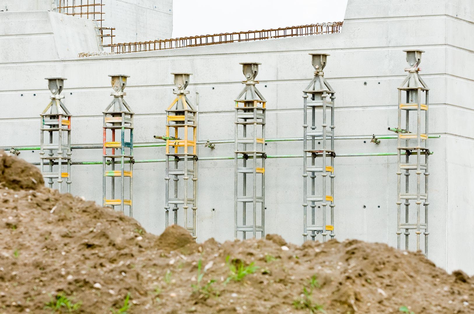 Bridge construction site at Schönefeld Airport Berlin