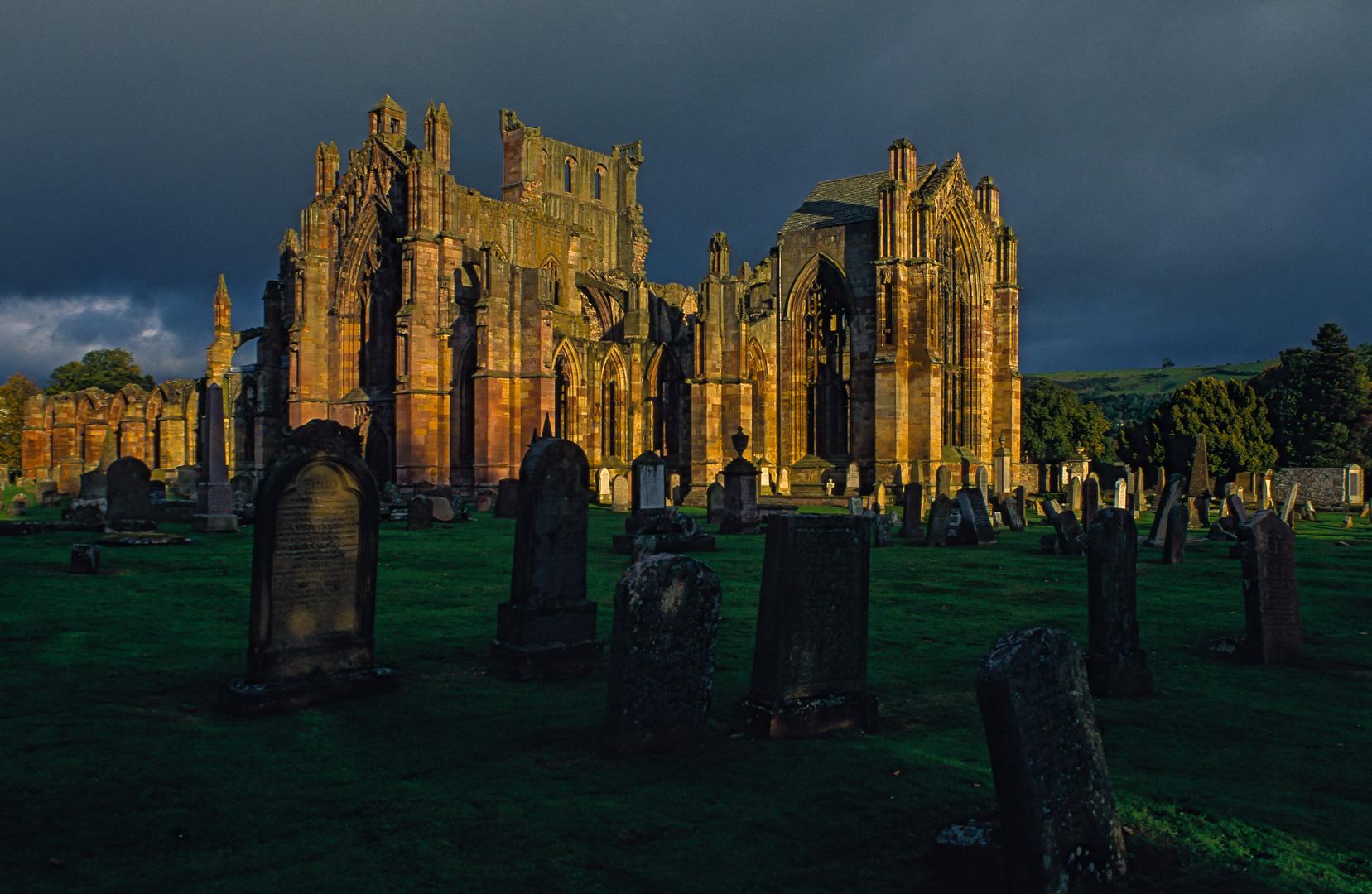 UK-Scotland England das Melrose Abbey in Schottland Kirche Ruine eines Klosters