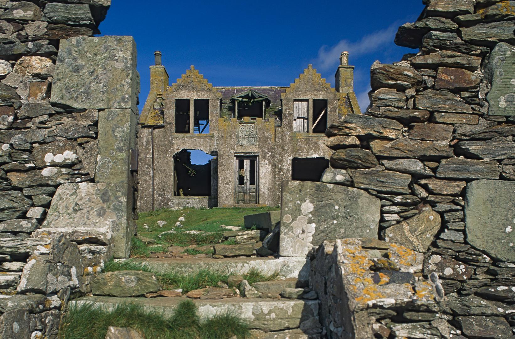 UK-Shetland England Island Windhouse Insel Schottland Geisterhaus