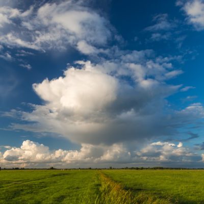 Clouds over the Hamme meadows near Worpswede