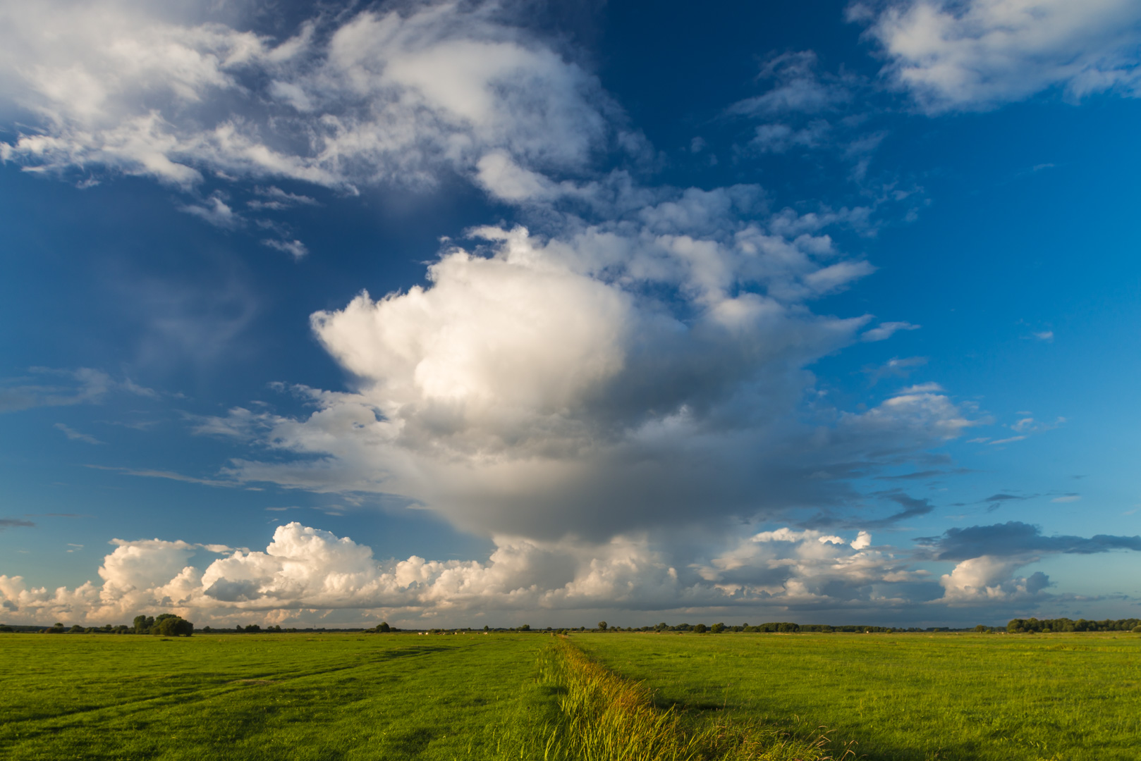 Wolken über den Wiesen vom Teufelsmoor bei Worpswede